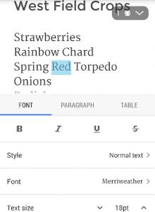 Google Документы - скриншот 3