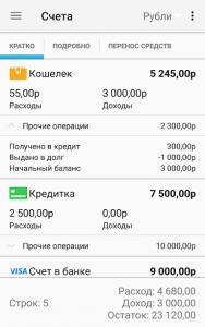 Домашняя бухгалтерия на андроид