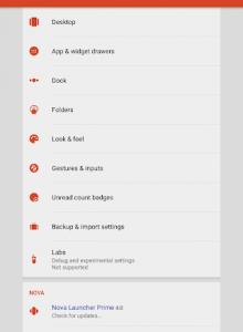 Nova Launcher - скриншот 10